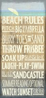 Beach Rules Fine Art Print