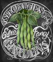 Chalkboard Green Beans Fine Art Print
