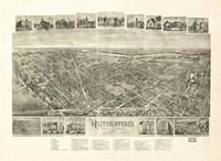 Rutherford, NJ Vintage Map, 1904 Fine Art Print