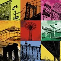 New York Nine Framed Print