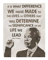 The Life We Lead - Nelson Mandela Framed Print