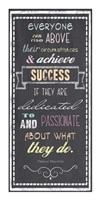 Achieve Success - Nelson Mandela Quote Fine Art Print