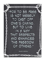 The Freedom of Others - Nelson Mandela Quote Fine Art Print