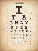 Nelson Mandela Eye Chart II Fine Art Print