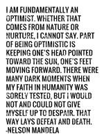 Optimist - Nelson Mandela Quote Fine Art Print