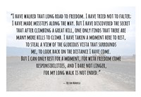 Road to Freedom - Nelson Mandela Quote Fine Art Print