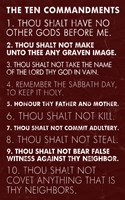 Ten Commandments - Red Grunge Fine Art Print