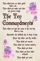 The Ten Commandments - Floral Fine Art Print