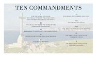 Ten Commandments - Cross Fine Art Print