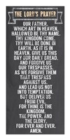 The Lord's Prayer - Chalkboard Style Fine Art Print
