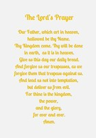 The Lord's Prayer - Gold Fine Art Print
