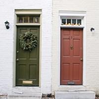 Dual Doors (Color) Fine Art Print