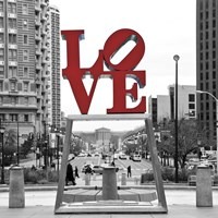 LOVE (Black, White, Red) Fine Art Print
