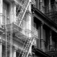 Fire Escape (b/w) Fine Art Print