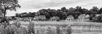 Boathouse Row (b/w) Fine Art Print