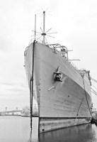 Naval Ship (b/w) Fine Art Print