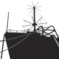 Ship Bow (silhouette) Fine Art Print