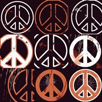 Peace Mantra (Orange) Framed Print