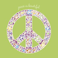 Peace is Beautiful Framed Print