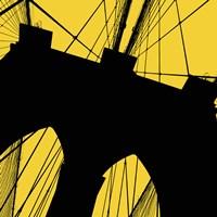 Brooklyn Bridge (Yellow) Framed Print