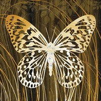 Butterflies & Leaves II Fine Art Print