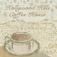 Hollywood Coffee House Framed Print