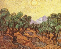 The Olive Trees, c.1889 Fine Art Print