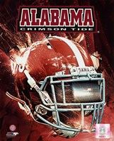University of Alabama Crimson Tide Helmet Composite Fine Art Print