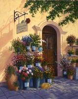 Cobblestone Flowers Fine Art Print