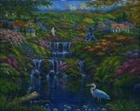 Falling Water Fine Art Print