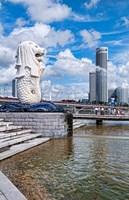 City Skyline, Fullerton, Clarke Quay, Singapore Fine Art Print