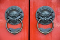 Pair of Door Knockers, Buddha Tooth Relic Temple, Singapore Fine Art Print