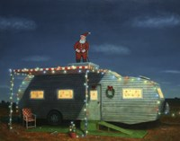 Trailer House Christmas Fine Art Print