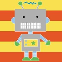 Robot - Stripes Fine Art Print