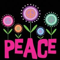Peace Flowers Framed Print