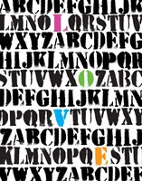 Alphabet Love Fine Art Print