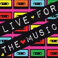 Live for the Music Framed Print