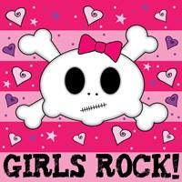 Girls Rock Framed Print