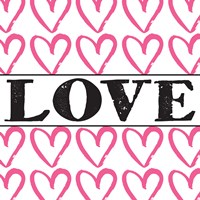 Love - Pink Sharpie Framed Print