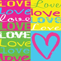 Love Squares Framed Print