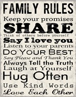 Family Rules 1 Framed Print