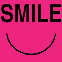 Smile - Pink Framed Print