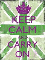 Keep Calm And Carry On 5 Framed Print