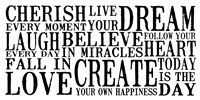 Cherish Live Dream 1 Framed Print
