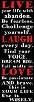 Live Laugh Love 1 Framed Print