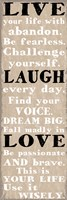 Live Laugh Love 2 Framed Print