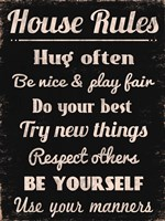 House Rules 1 Framed Print