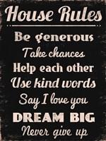 House Rules 2 Framed Print