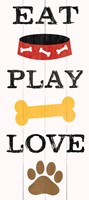 Eat Play Love - Dog 1 Framed Print