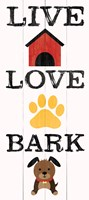 Live Love Bark Fine Art Print